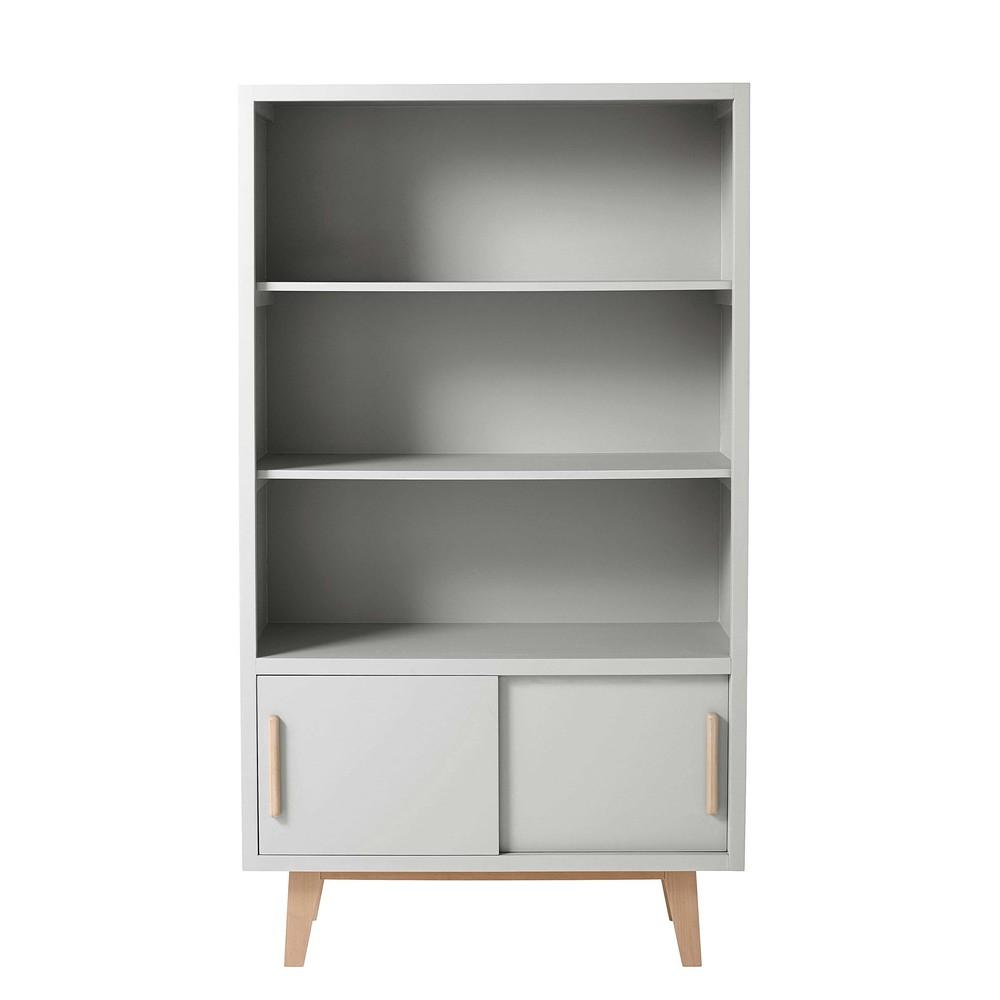 biblioth que en bois gris l 93 cm sweet maisons du monde. Black Bedroom Furniture Sets. Home Design Ideas