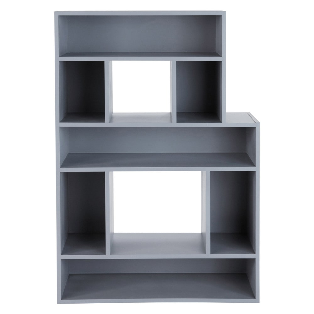 bibliotheque grise biblioth que grise 10 niches margriet couleur gris achat biblioth que grise. Black Bedroom Furniture Sets. Home Design Ideas