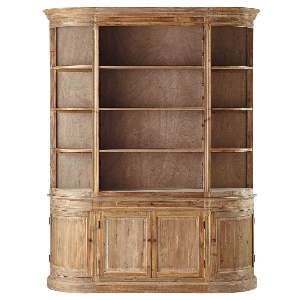biblioth que en bois recycl l 190 cm flaubert maisons du monde. Black Bedroom Furniture Sets. Home Design Ideas