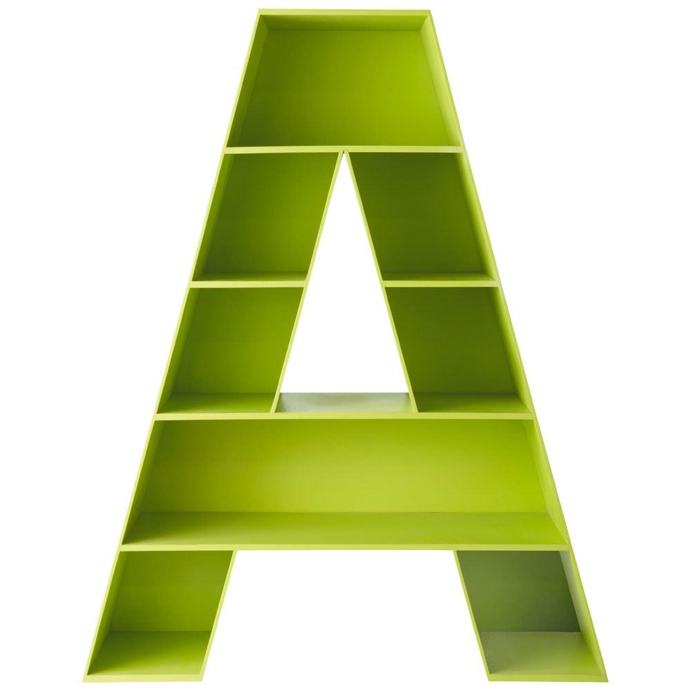 Biblioth que en bois verte l 130 cm a maisons du monde - Bibliotheque meuble maison du monde ...