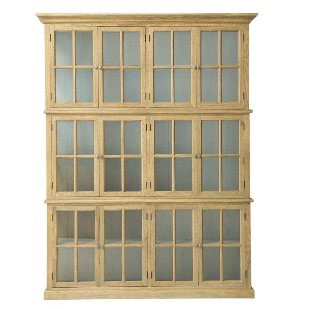 biblioth que en ch ne massif l 168 cm atelier maisons du. Black Bedroom Furniture Sets. Home Design Ideas