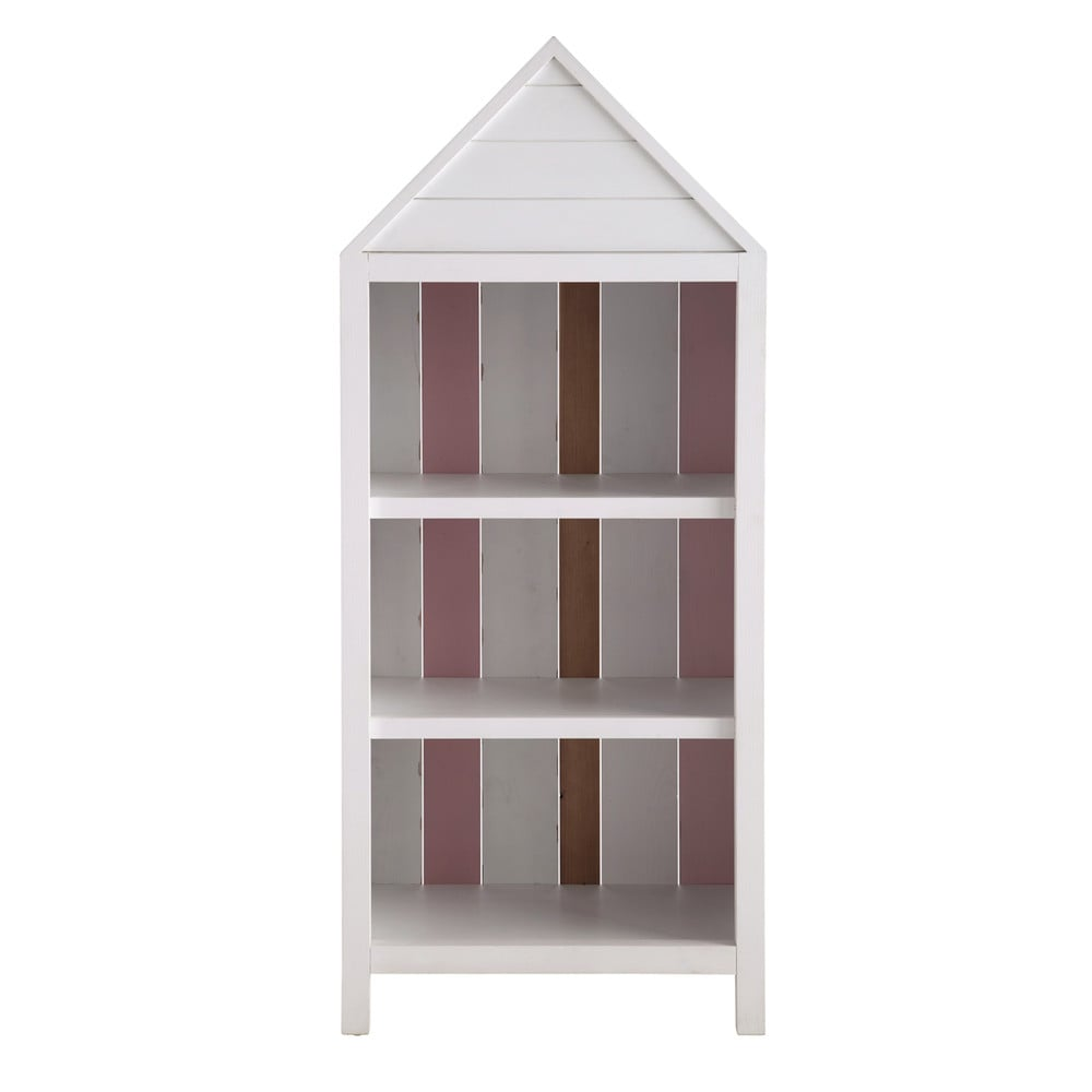 biblioth que enfant cabine de plage en bois rose l 60 cm. Black Bedroom Furniture Sets. Home Design Ideas