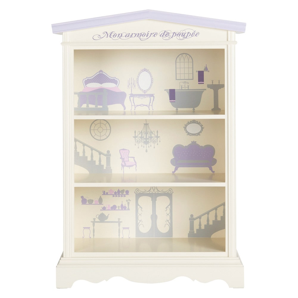 biblioth que enfant en bois ivoire l 98 cm princesse. Black Bedroom Furniture Sets. Home Design Ideas
