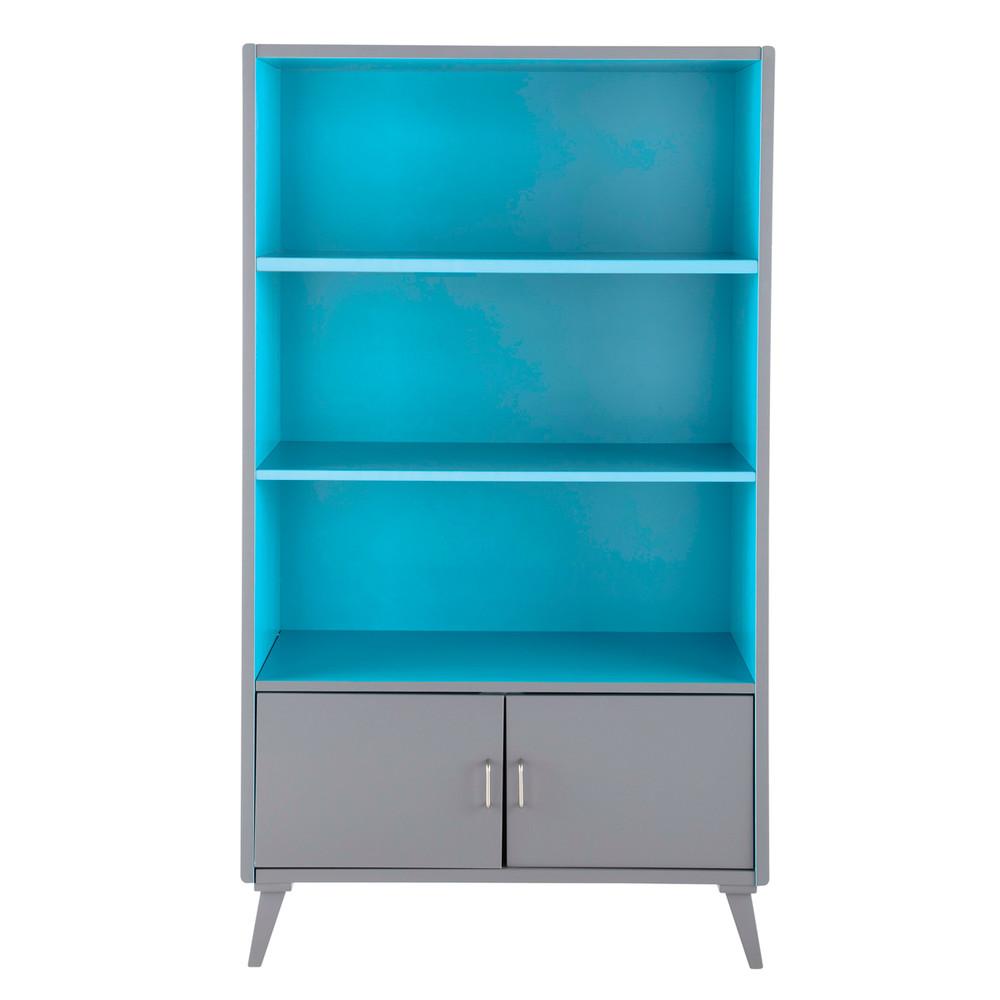 biblioth que enfant vintage grise et bleue theo maisons du monde. Black Bedroom Furniture Sets. Home Design Ideas