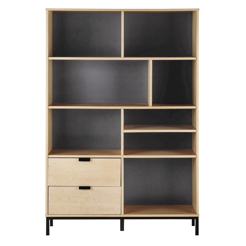 biblioth que l 121 cm graphik maisons du monde. Black Bedroom Furniture Sets. Home Design Ideas