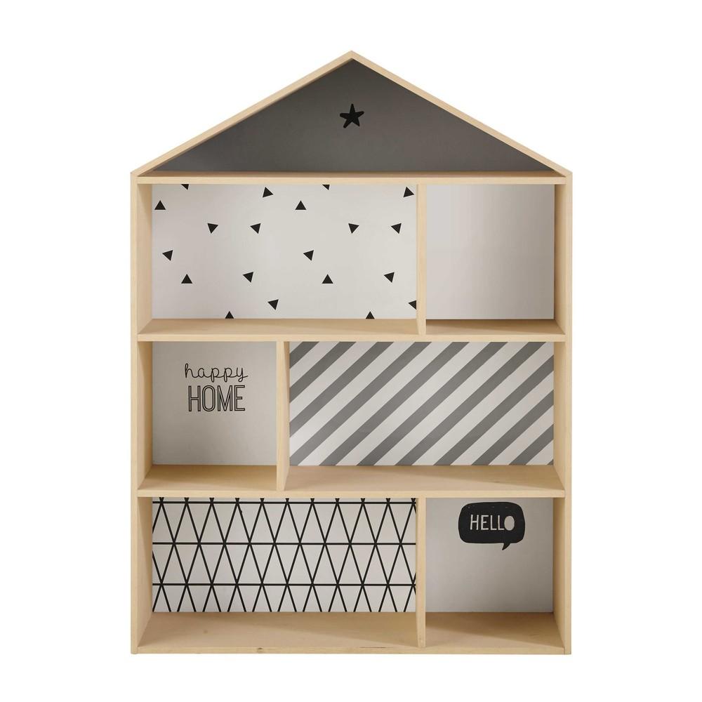 Biblioth que maison enfant en bois l 102 cm graphikids maisons du monde - Bibliotheque decoratie de maison ...