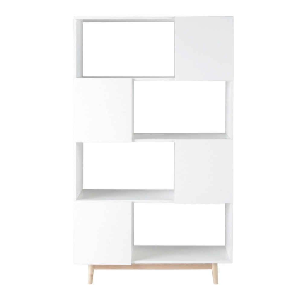 biblioth que vintage en bois blanche l 110 cm artic. Black Bedroom Furniture Sets. Home Design Ideas