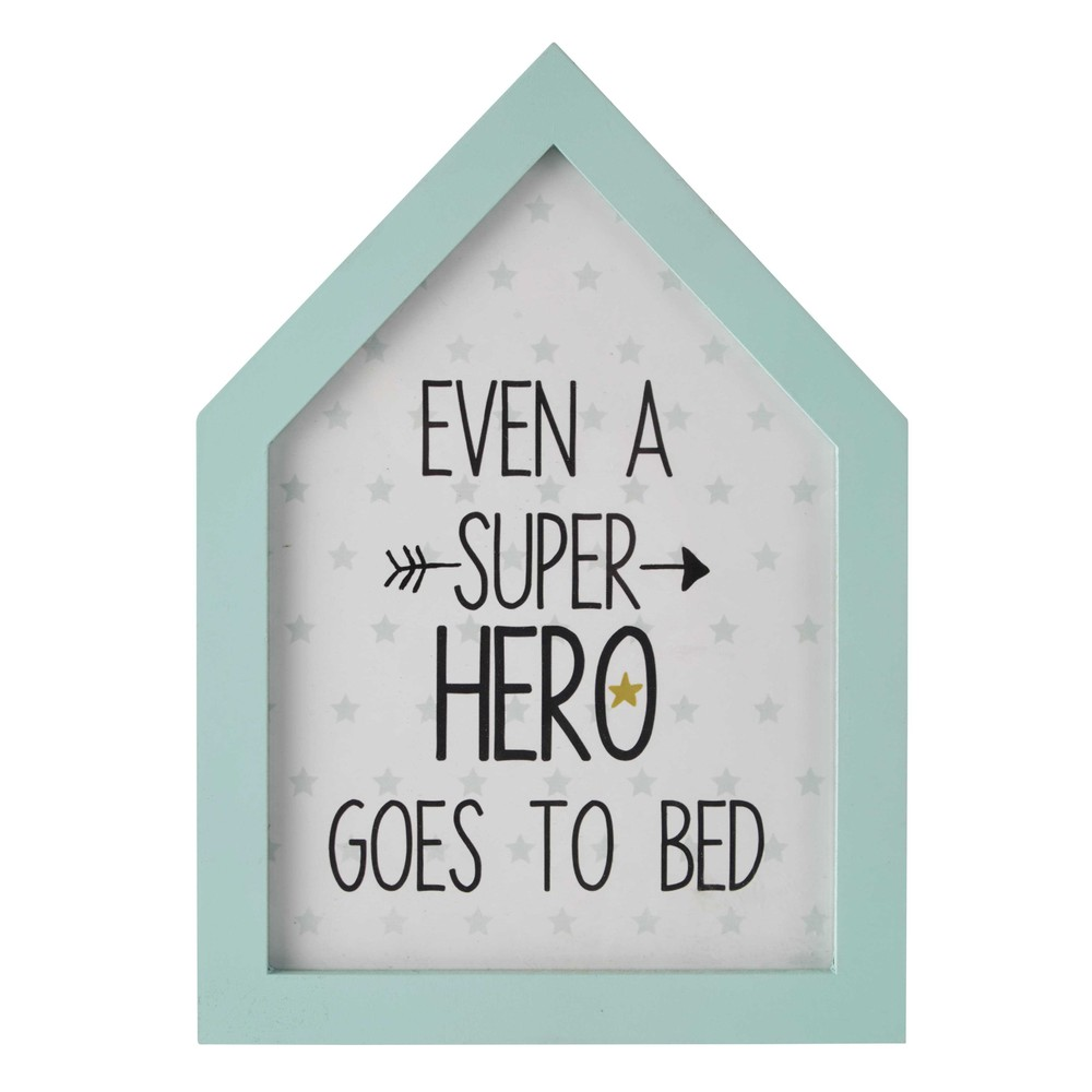 bilderrahmen blau 20 x 28 cm super hero maisons du monde. Black Bedroom Furniture Sets. Home Design Ideas