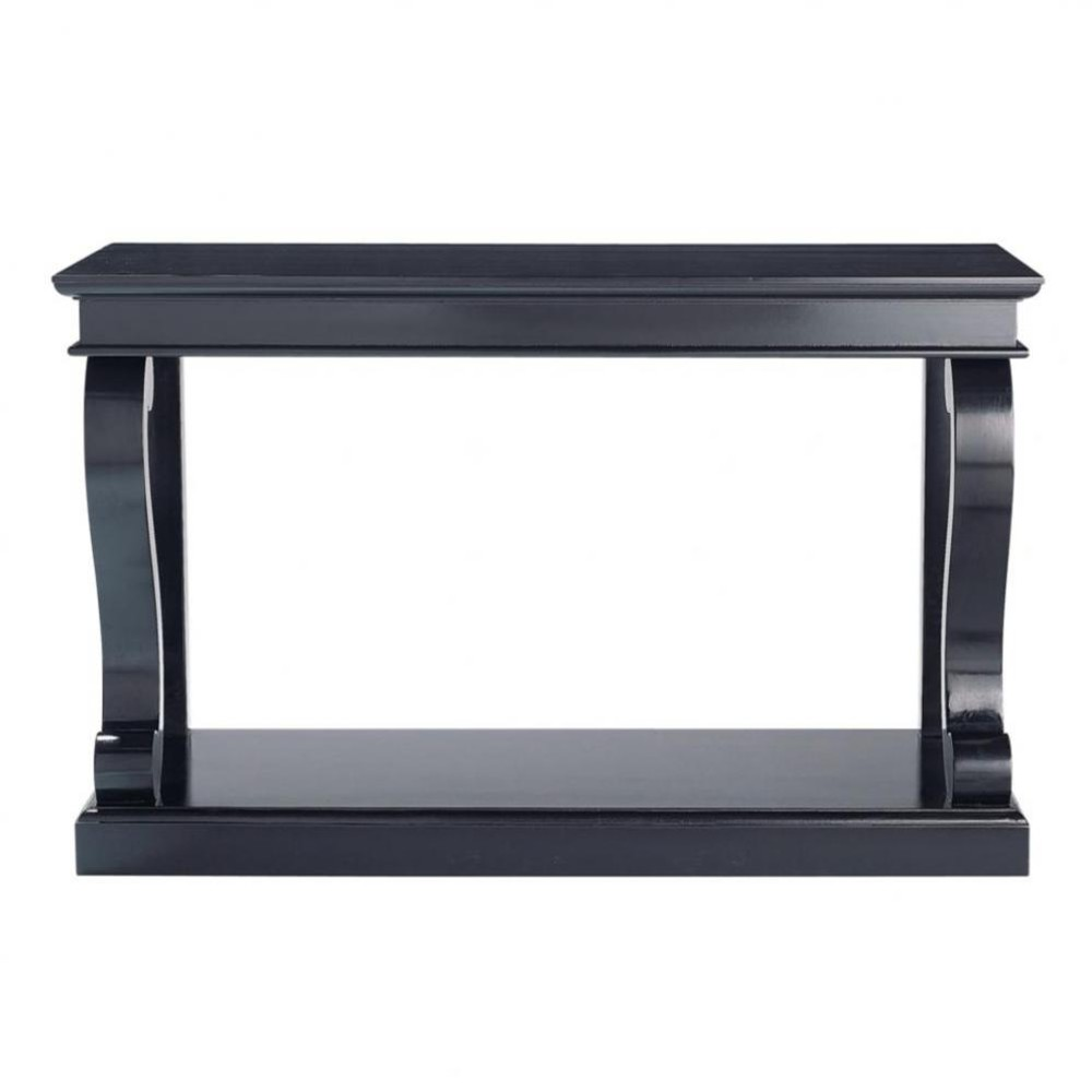 birch wood console table in black w 130cm octavia. Black Bedroom Furniture Sets. Home Design Ideas