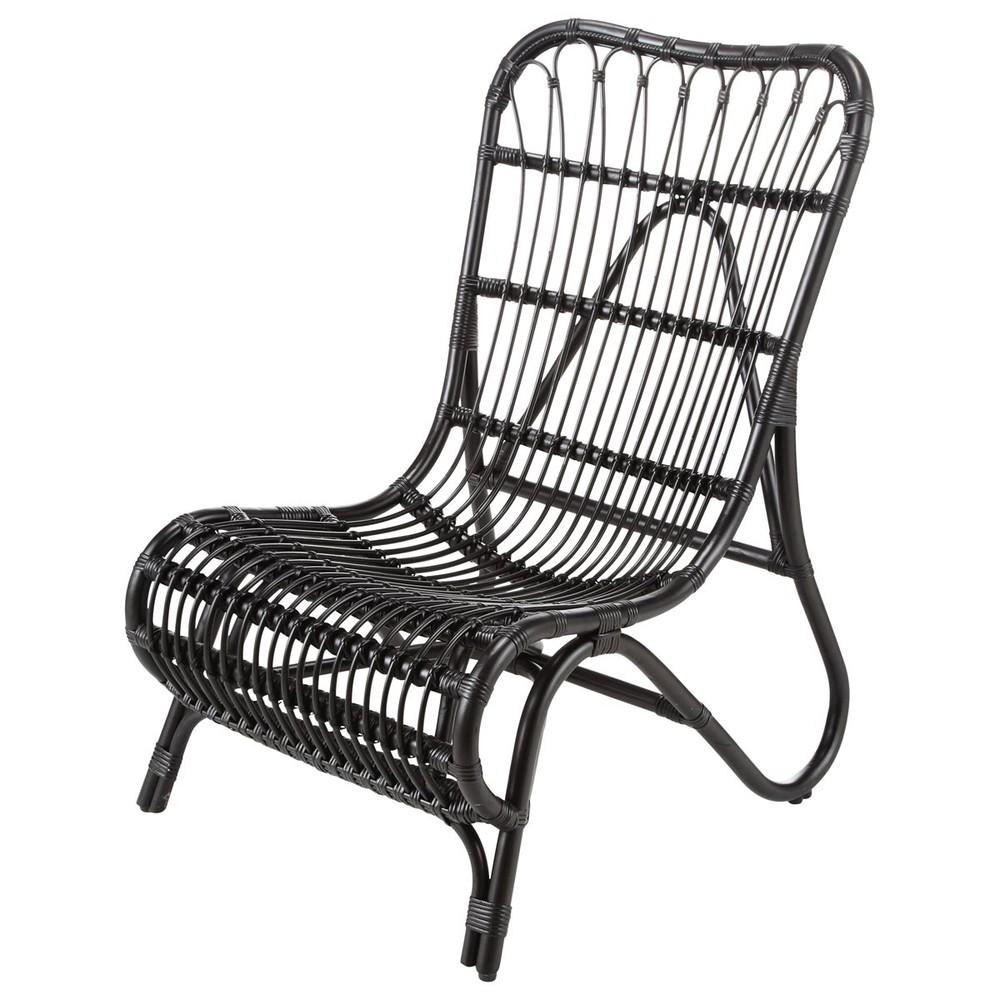 black rattan armchair louisiane louisiane maisons du monde. Black Bedroom Furniture Sets. Home Design Ideas