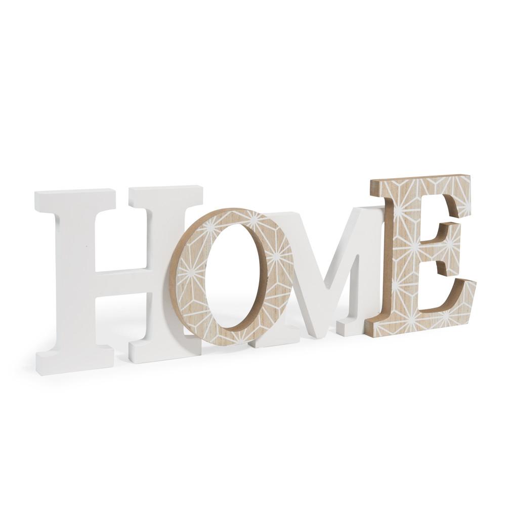 Blackstage wooden home decorative wording l 44cm maisons du monde - Home maison du monde ...
