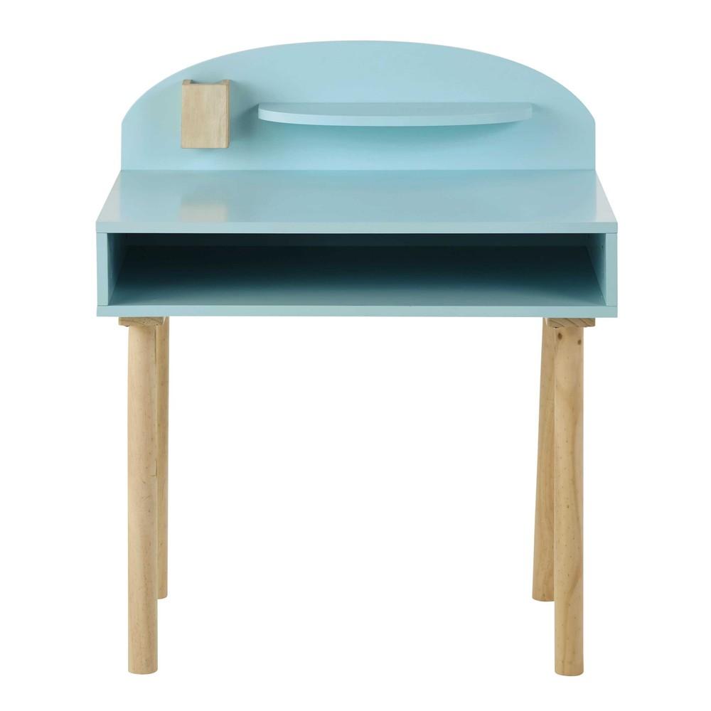 Blauw houten kinderbureau l 70 cm nuage maisons du monde - Houten bureau voor kinderen ...