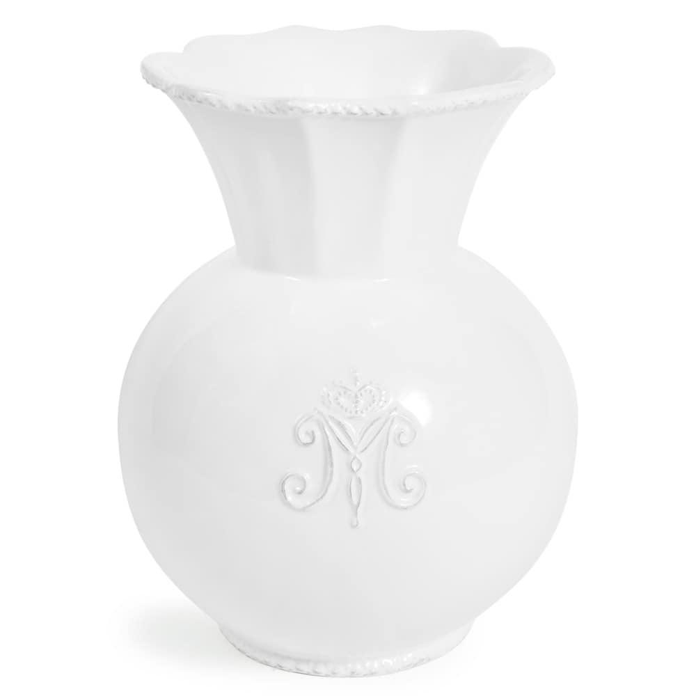 bl tenf rmige vase aristo aus porzellan h 19 cm wei maisons du monde. Black Bedroom Furniture Sets. Home Design Ideas