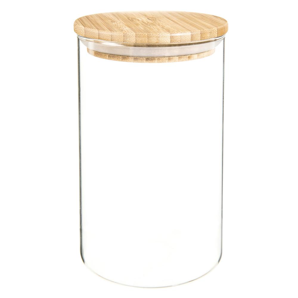 bocal en verre et bambou h 17 cm scandinavian maisons du. Black Bedroom Furniture Sets. Home Design Ideas