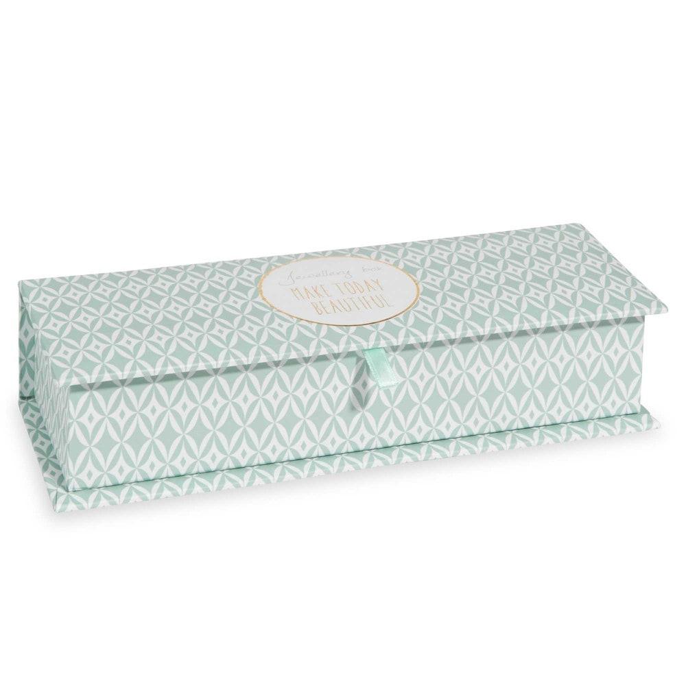 bo te bijoux motifs verts paper today maisons du monde. Black Bedroom Furniture Sets. Home Design Ideas