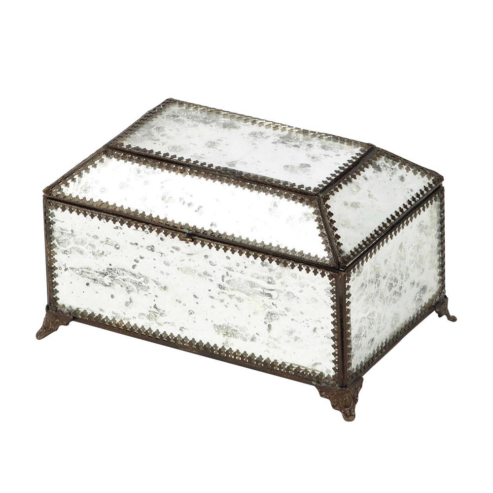 bo te bijoux en m tal effet miroir h 13 cm adelise maisons du monde. Black Bedroom Furniture Sets. Home Design Ideas