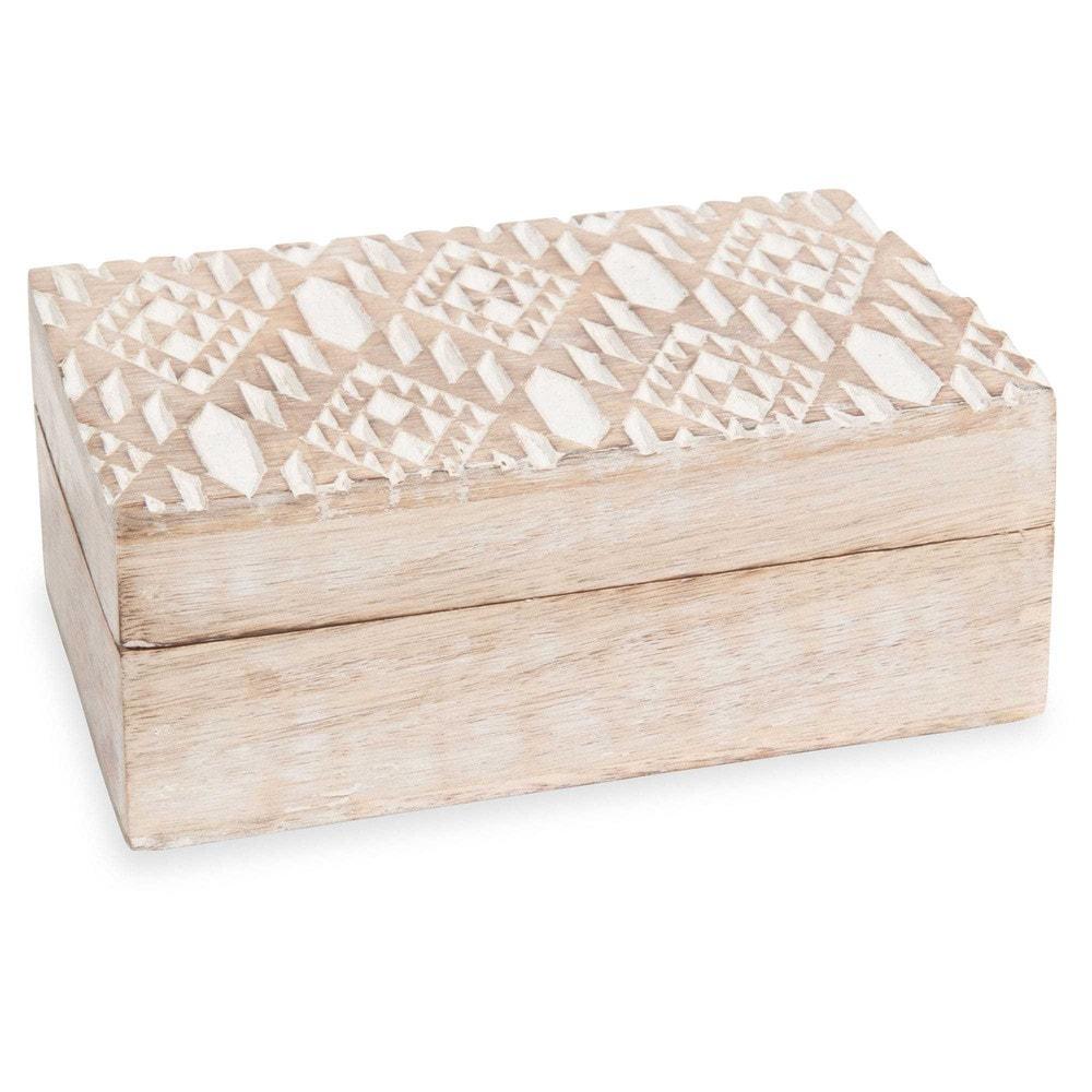 bo te en bois carving ikat maisons du monde. Black Bedroom Furniture Sets. Home Design Ideas