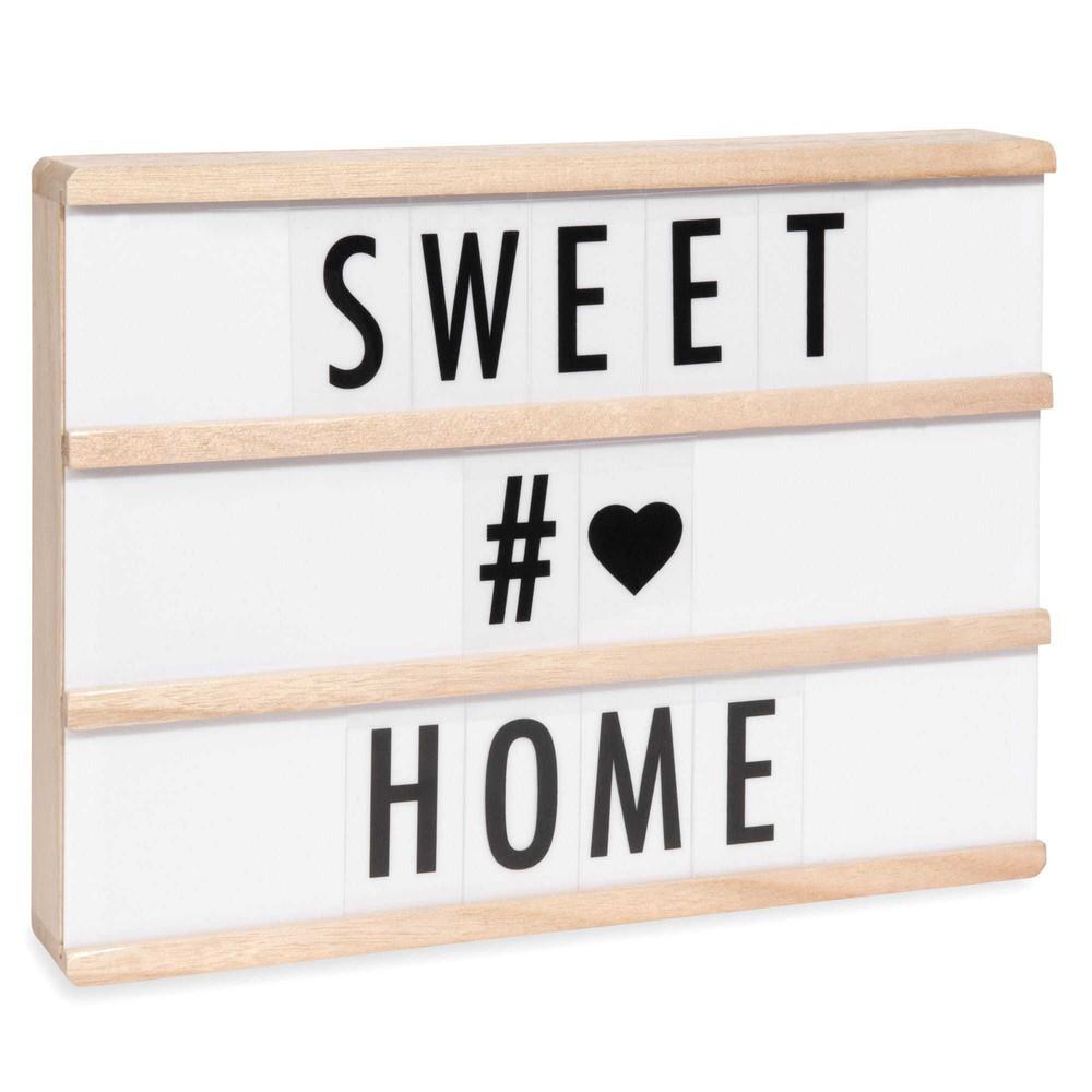bo te lumineuse messages light box led a4 maisons du monde. Black Bedroom Furniture Sets. Home Design Ideas