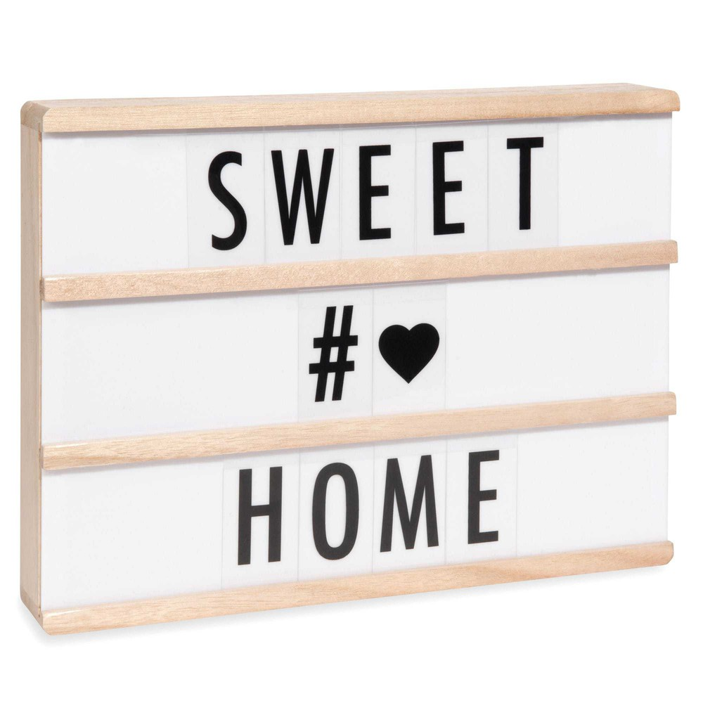 bo te lumineuse messages lightbox led a4 maisons du monde. Black Bedroom Furniture Sets. Home Design Ideas
