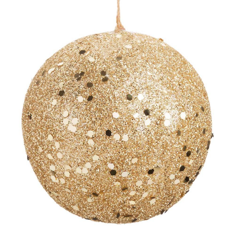 Bola de navidad dorada 6 cm golden glitter maisons du monde - Bolas de navidad doradas ...