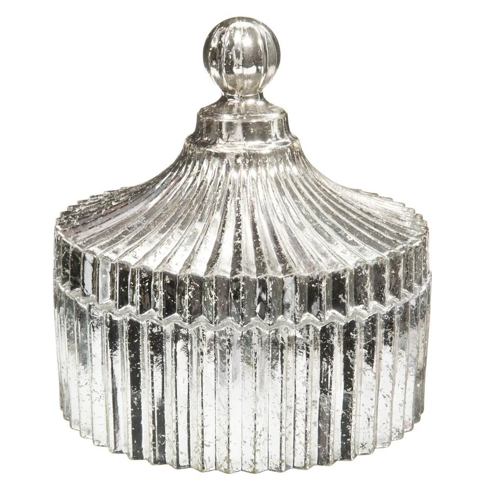 Bonbonni re stri e en verre h 17 cm antic maisons du monde - Bonbonniere maison du monde ...