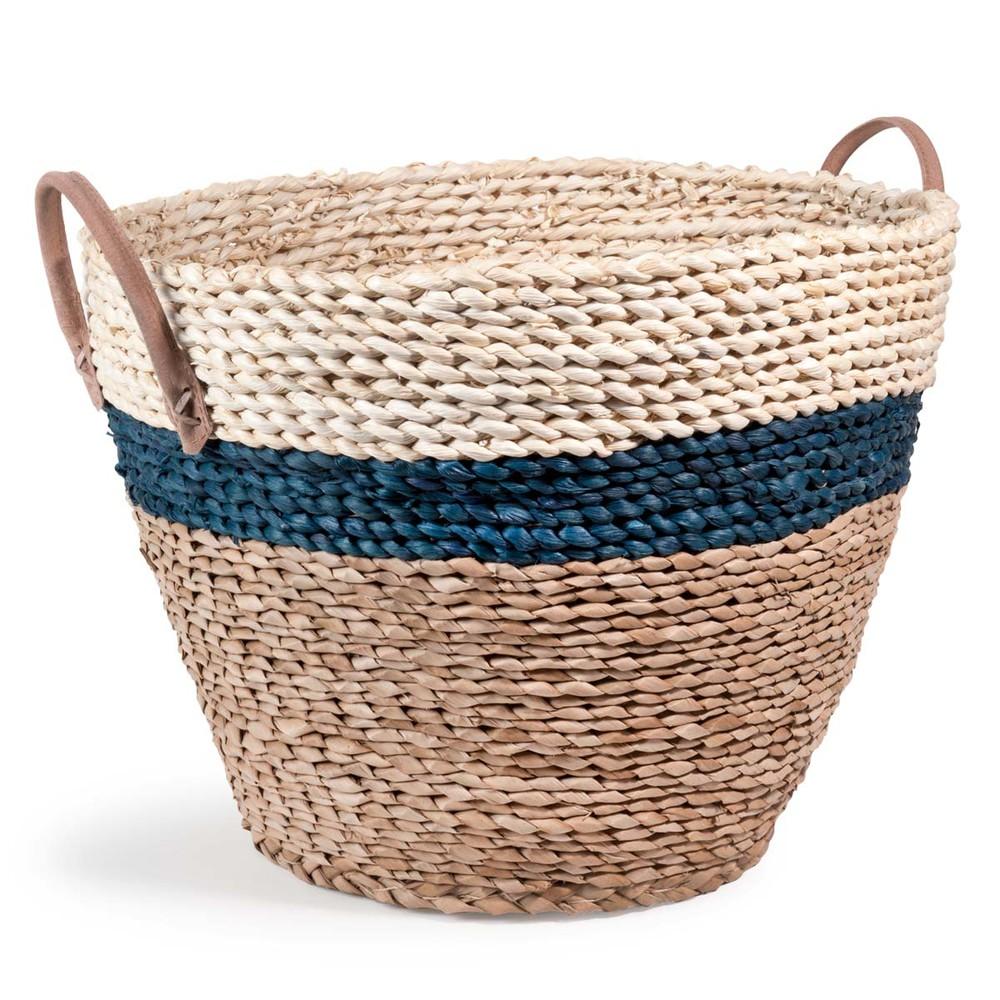 Bord de mer wickerwork basket h 30 cm maisons du monde for Decoration bord de mer