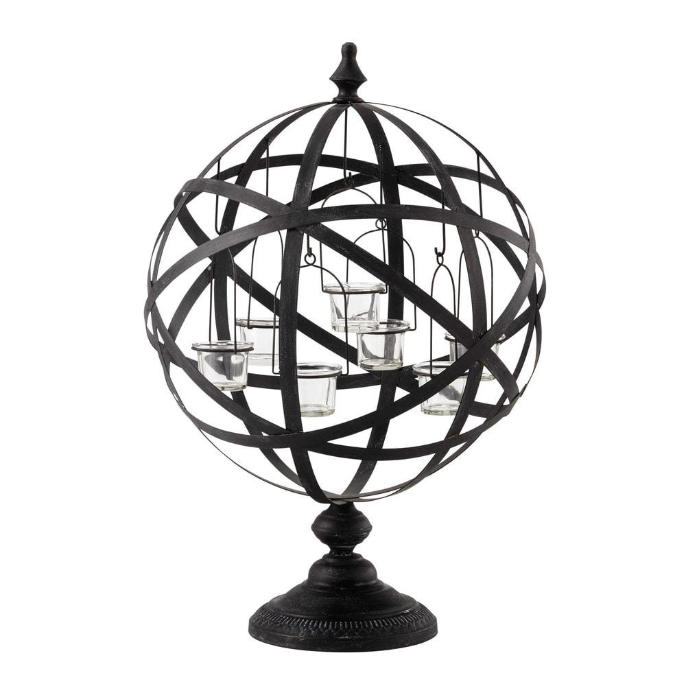 Exceptionnel Bougeoir en métal noir H 60 cm COPERNIC | Maisons du Monde IF36