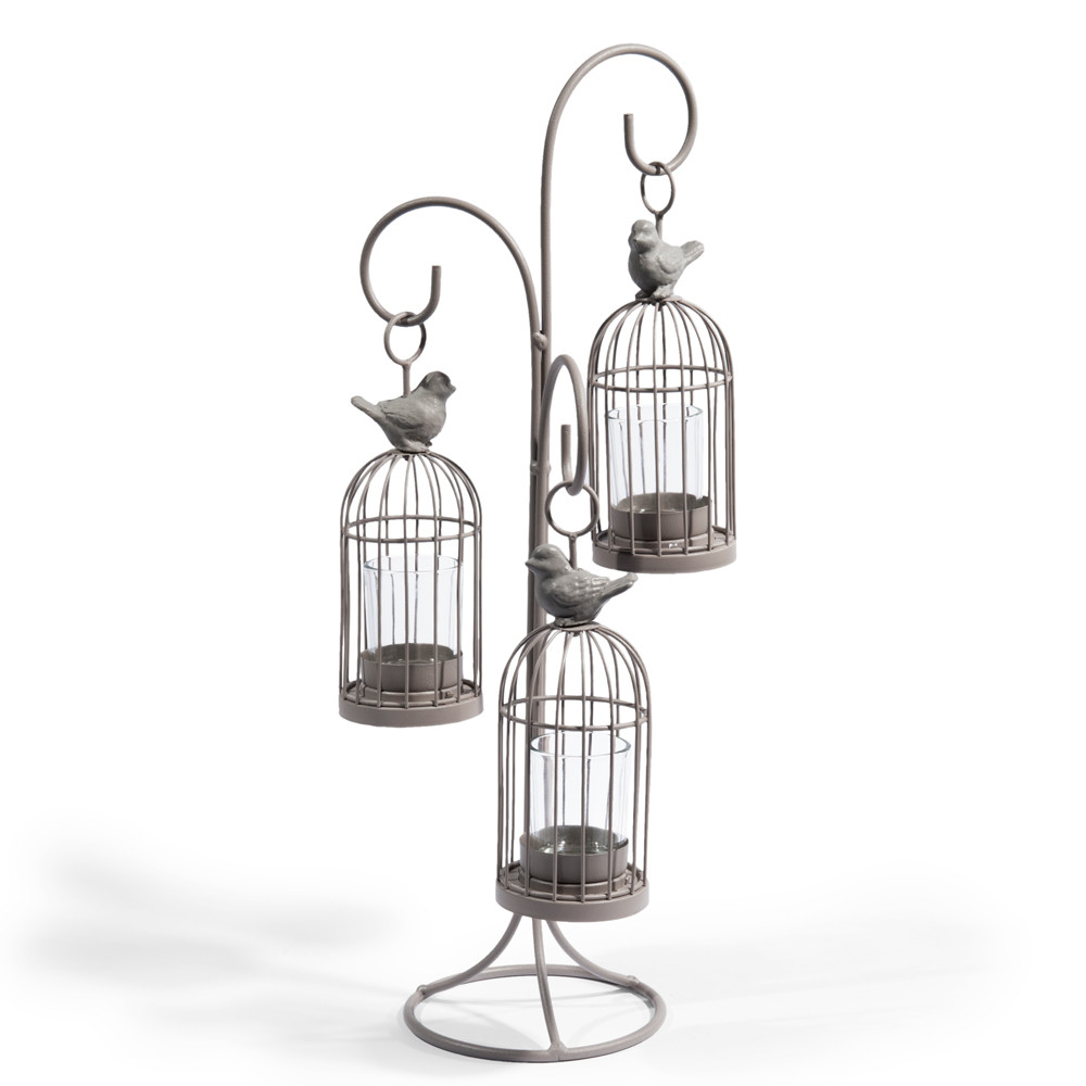 bougeoir triple cage oiseau maisons du monde. Black Bedroom Furniture Sets. Home Design Ideas