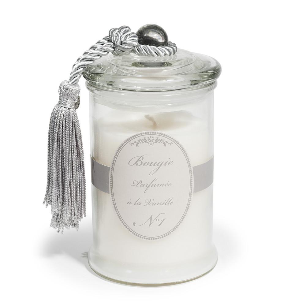 Bougie bonbonni re parfum vanille blanche h 15 cm - Bon reduction maison du monde ...