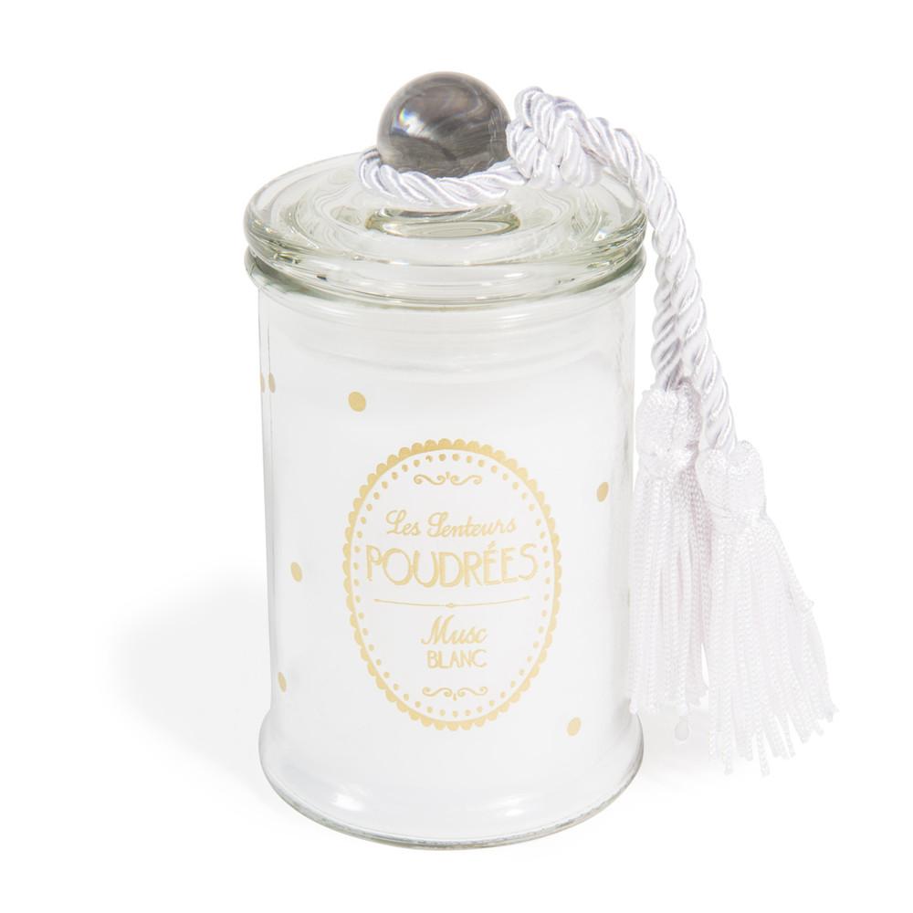 bougie bonbonni re parfum e musc blanc blanche h 11 cm maisons du monde. Black Bedroom Furniture Sets. Home Design Ideas
