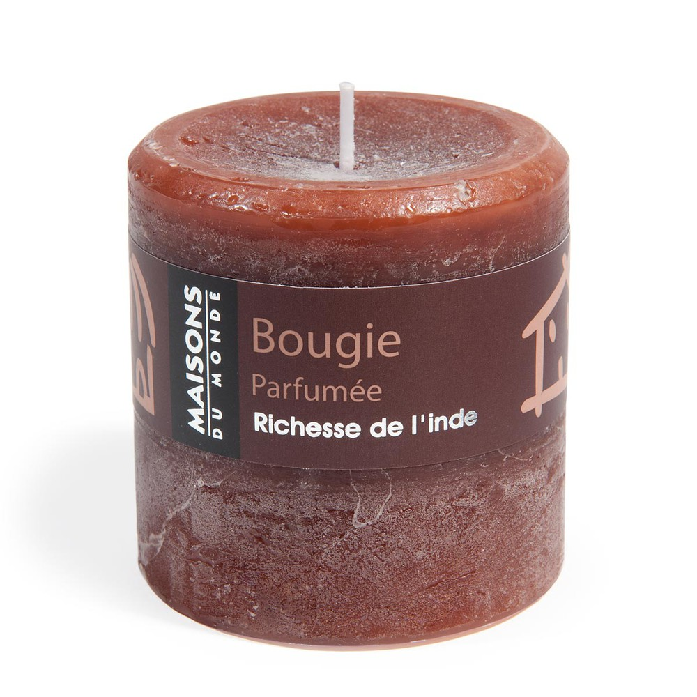 bougie cylindrique chocolat 7x7 maisons du monde. Black Bedroom Furniture Sets. Home Design Ideas