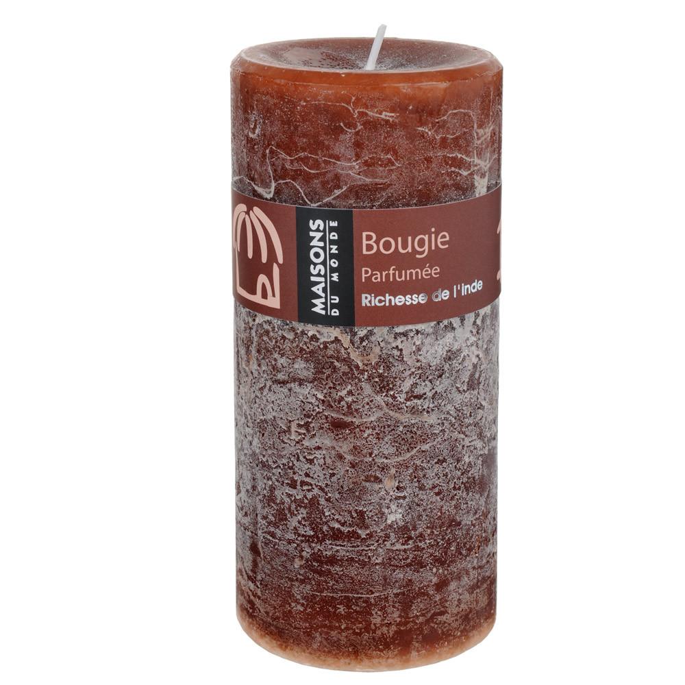 Bougie Cylindrique Parfum E Chocolat H 15 Cm Maisons Du Monde