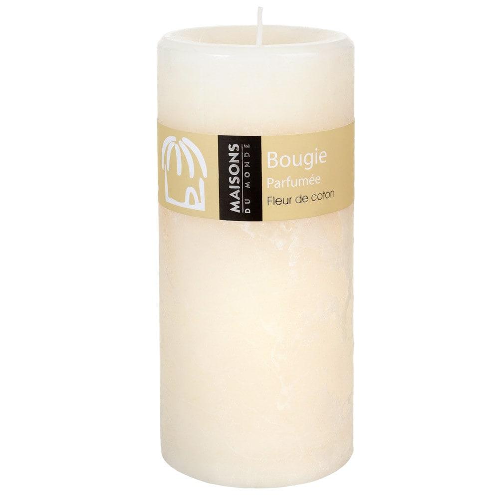 Bougie Cylindrique Parfum E Ivoire H 15 Cm Maisons Du Monde