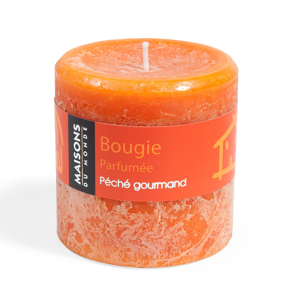 bougie cylindrique parfum e orange h 7 cm maisons du monde. Black Bedroom Furniture Sets. Home Design Ideas