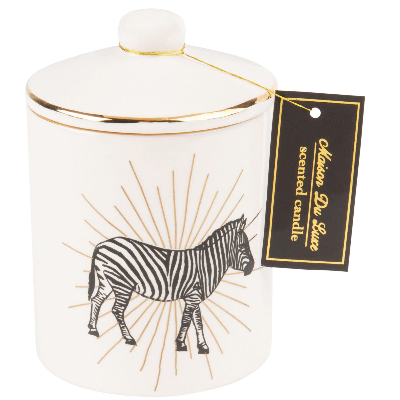 Bougie Parfumee Imprime Zebre Avec Couvercle Maisons Du Monde
