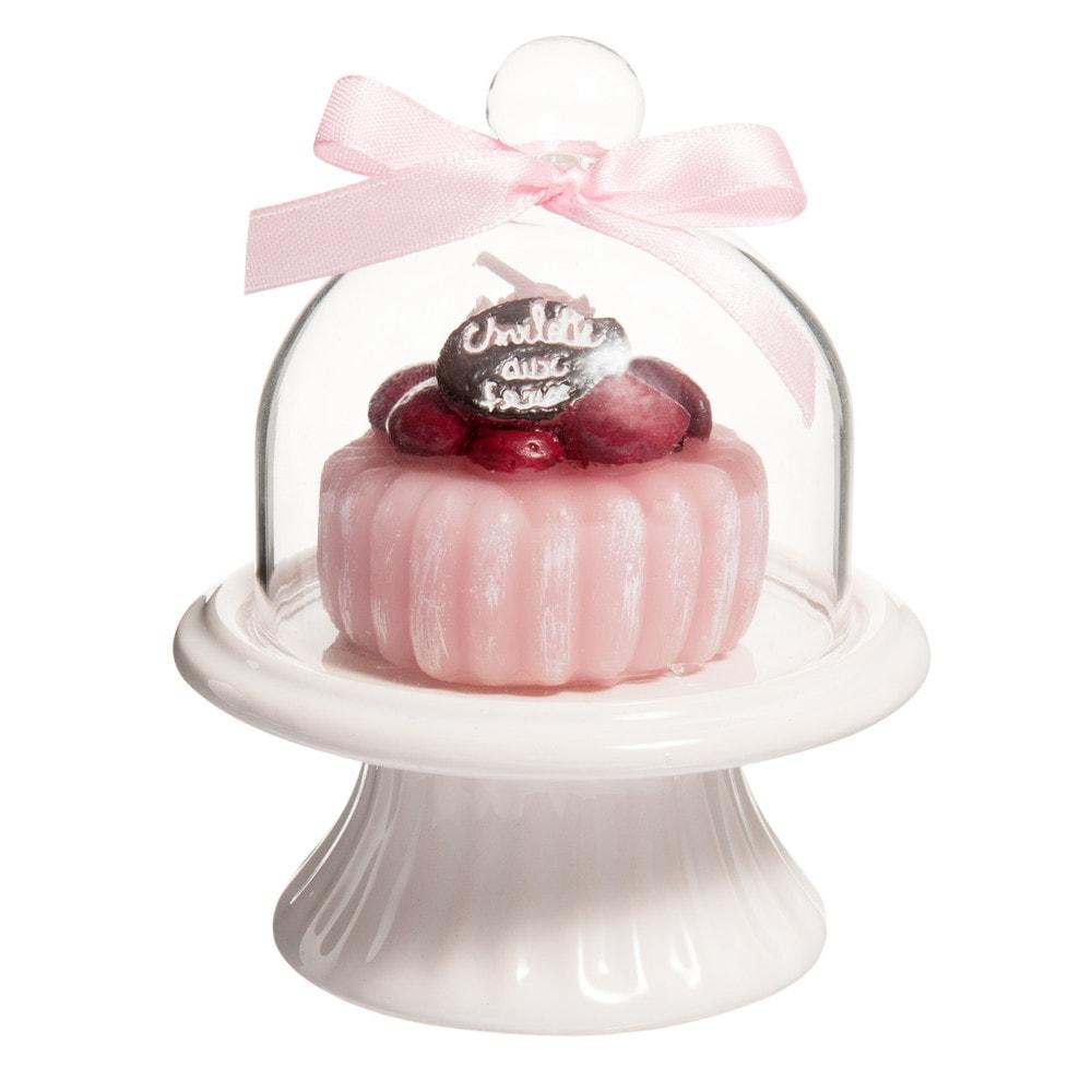 bougie rose h 12 cm charlotte aux fraises maisons du monde. Black Bedroom Furniture Sets. Home Design Ideas