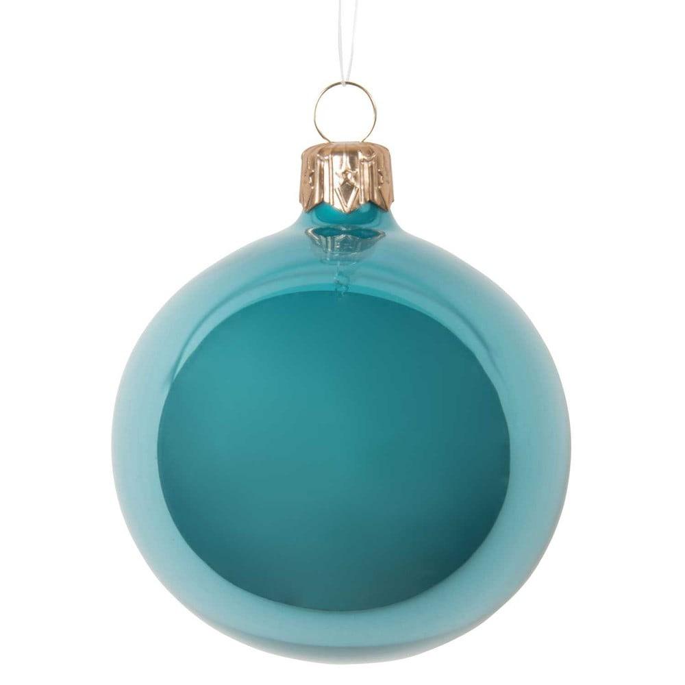 Boule de no l bleue en verre 7 cm vintage maisons du monde - Boule de noel vintage ...