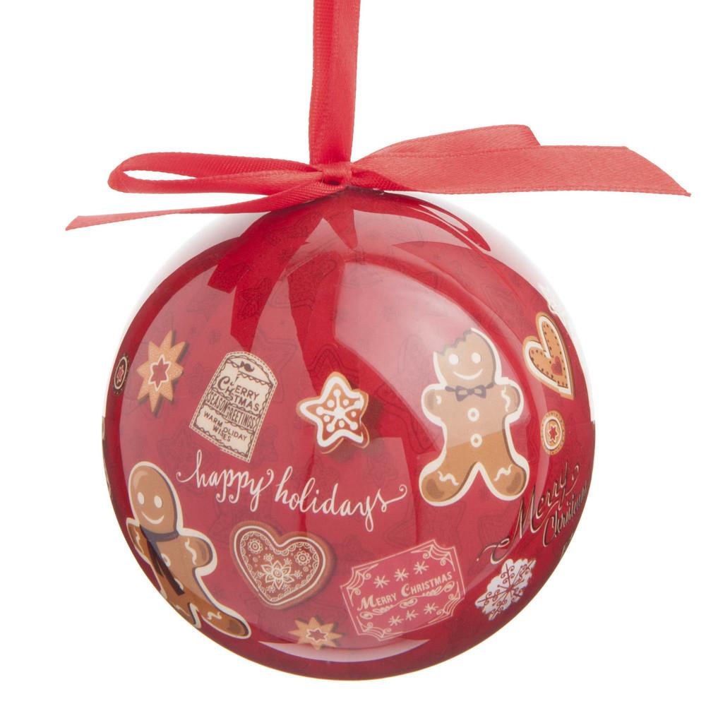 Boule de no l en plastique rouge 8 cm pain d 39 pice maisons du monde - Boule de noel vintage ...