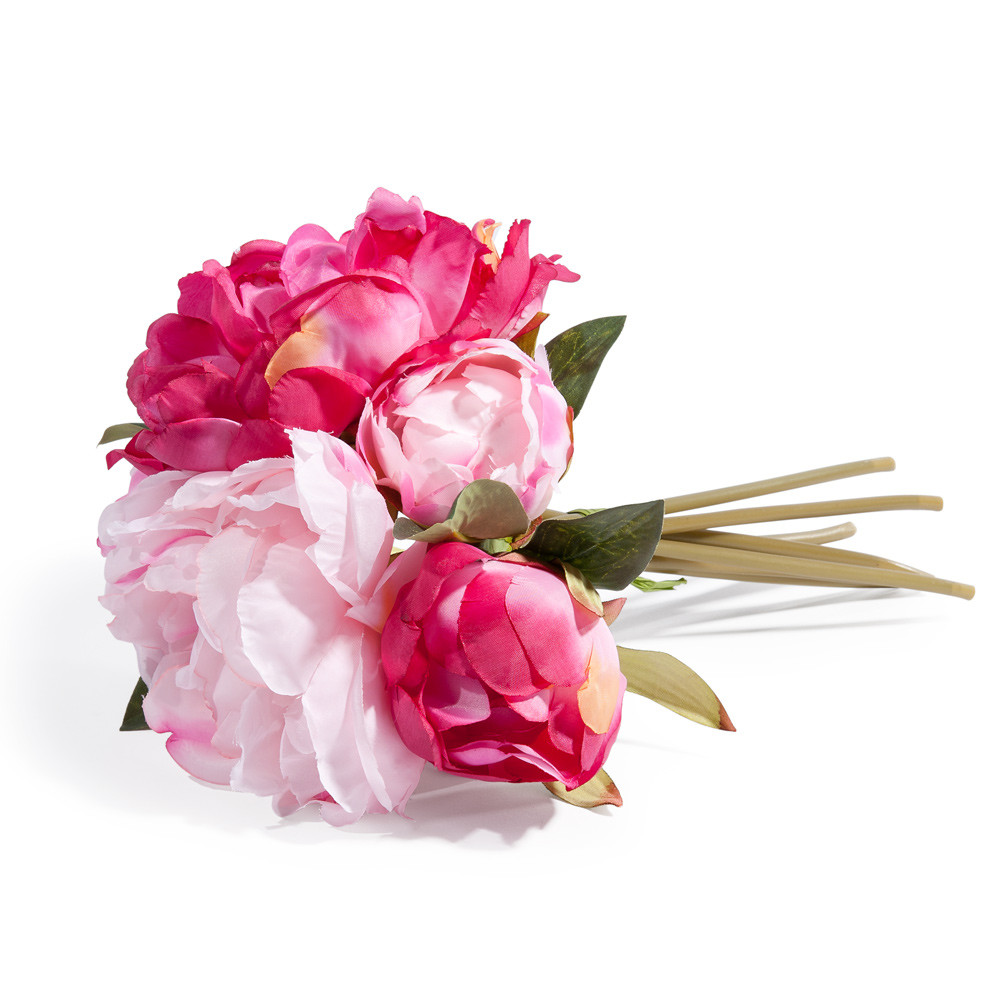 bouquet de pivoines artificielles roses h 25 cm gladys maisons du monde. Black Bedroom Furniture Sets. Home Design Ideas