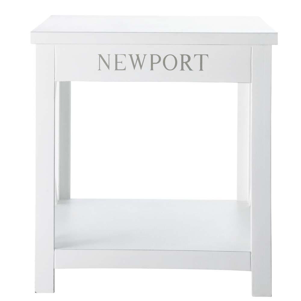 bout de canap blanc l 45 cm newport maisons du monde. Black Bedroom Furniture Sets. Home Design Ideas