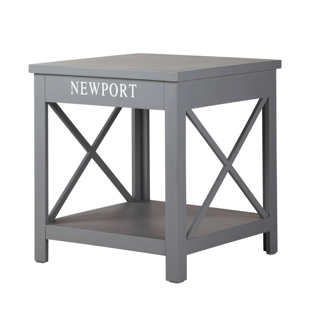 bout de canap bois gris newport maisons du monde. Black Bedroom Furniture Sets. Home Design Ideas