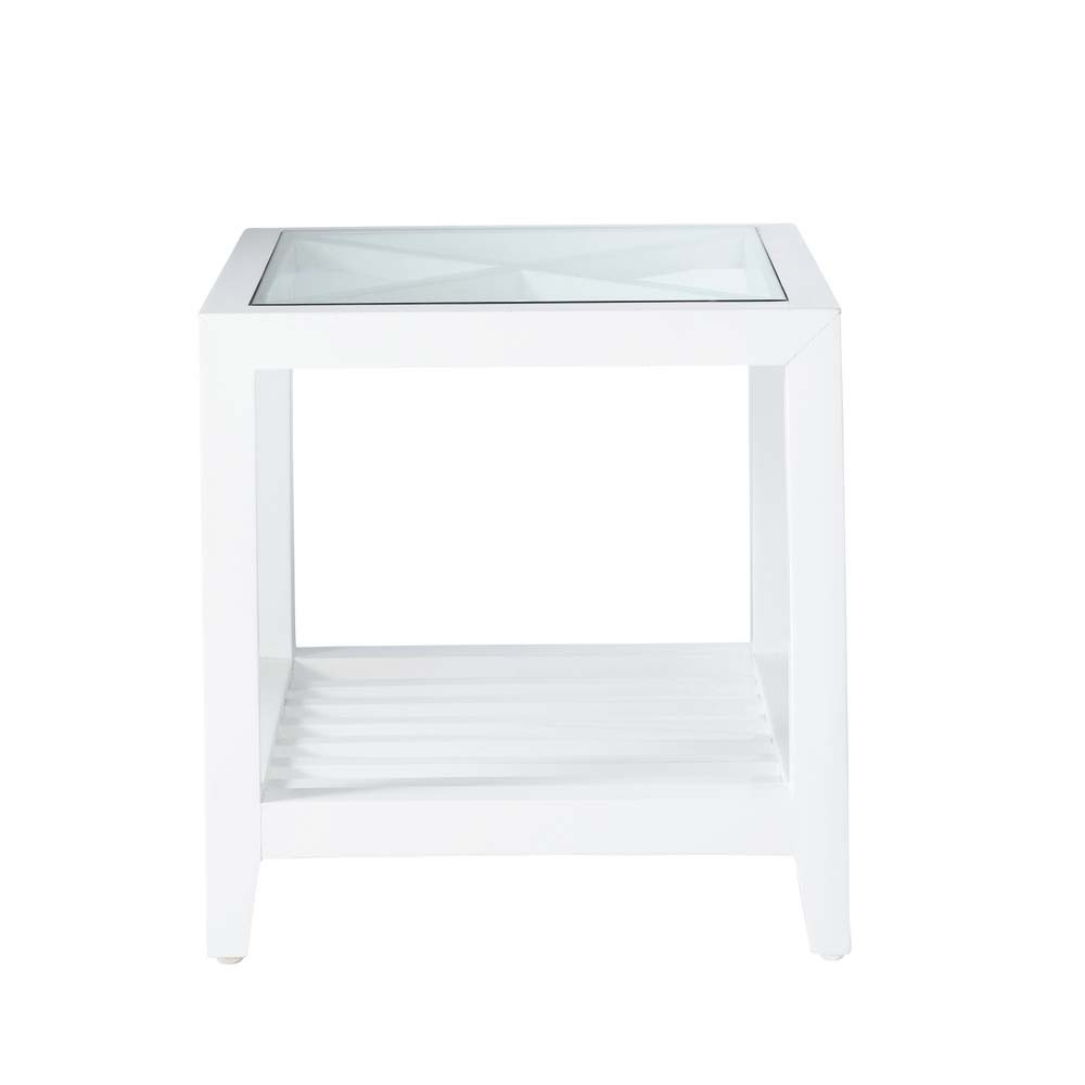 bout de canap en bois blanc l 40 cm atlantique maisons. Black Bedroom Furniture Sets. Home Design Ideas