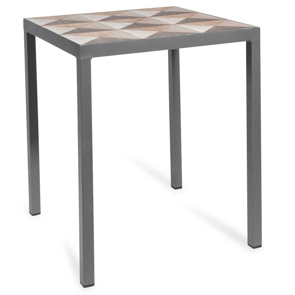 bout de canap en bois d 35 cm marqueterie maisons du monde. Black Bedroom Furniture Sets. Home Design Ideas