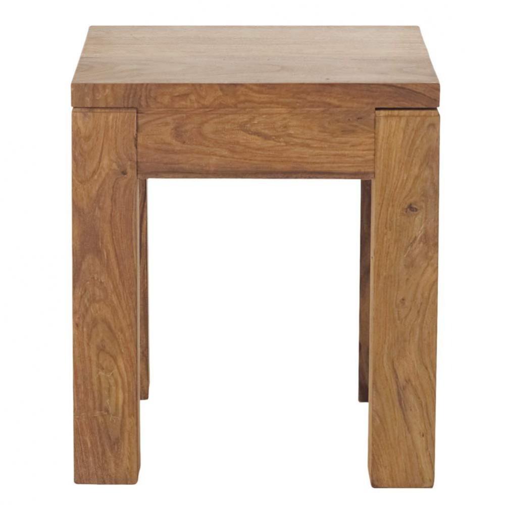 bout de canap en bois de sheesham massif l 40 cm. Black Bedroom Furniture Sets. Home Design Ideas