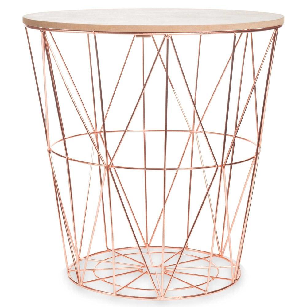 bout de canap en m tal d 40 cm zigzag copper maisons du. Black Bedroom Furniture Sets. Home Design Ideas