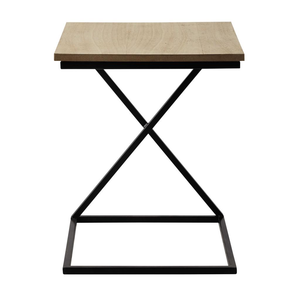 bout de canap en m tal et bois l 40 cm felix maisons du. Black Bedroom Furniture Sets. Home Design Ideas