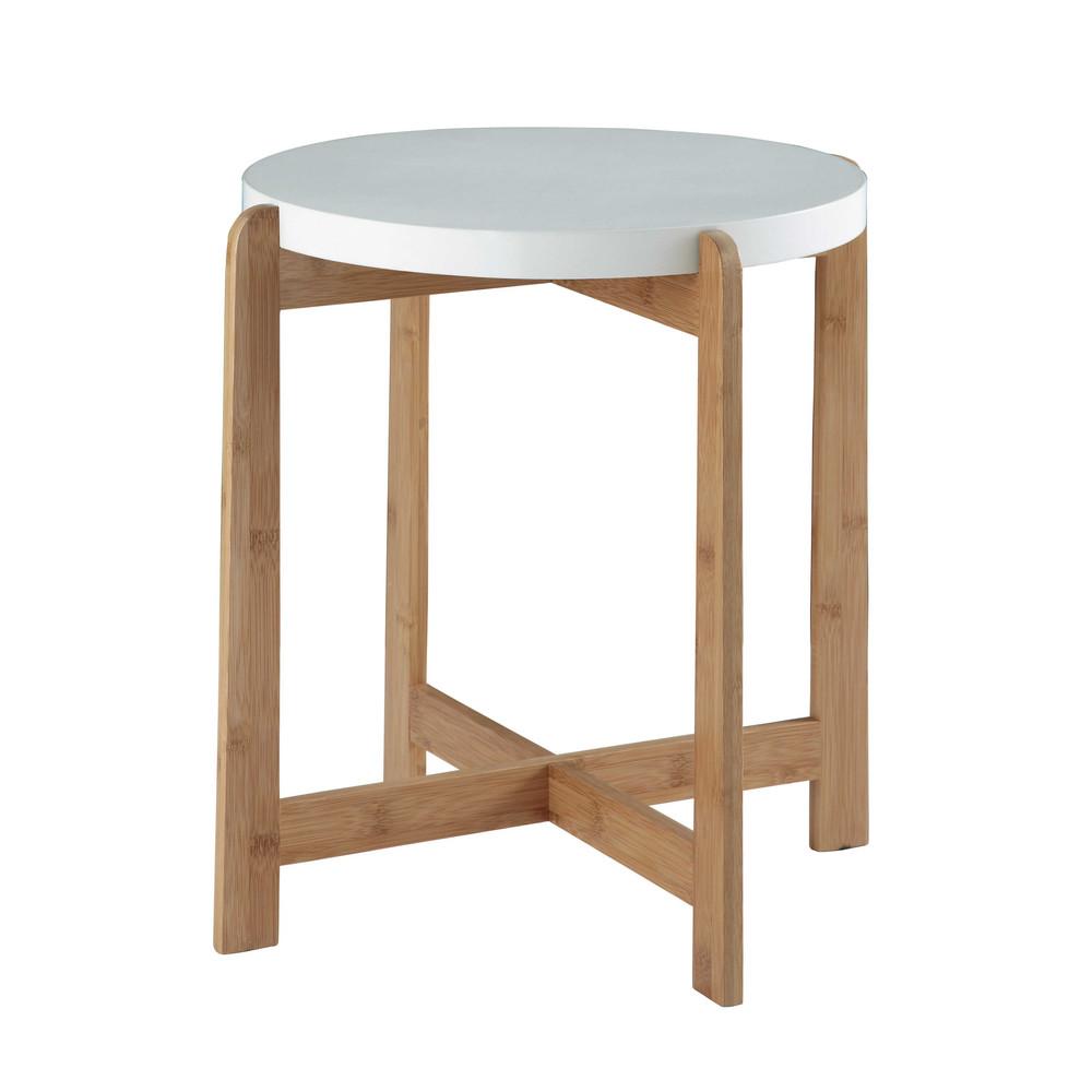 bout de canap r versible en bambou l 40 cm feroe maisons du monde. Black Bedroom Furniture Sets. Home Design Ideas