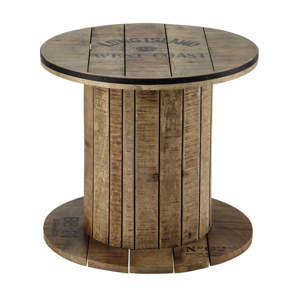 Bout de canap touret en manguier d 50 cm sailor maisons - Table bout de canape design ...