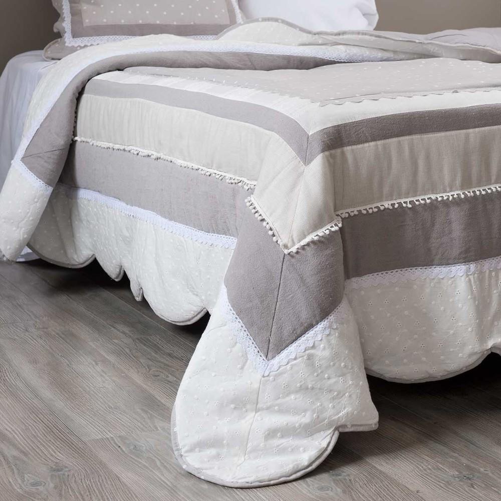 boutis en coton 240 x 260 cm b r nice maisons du monde. Black Bedroom Furniture Sets. Home Design Ideas