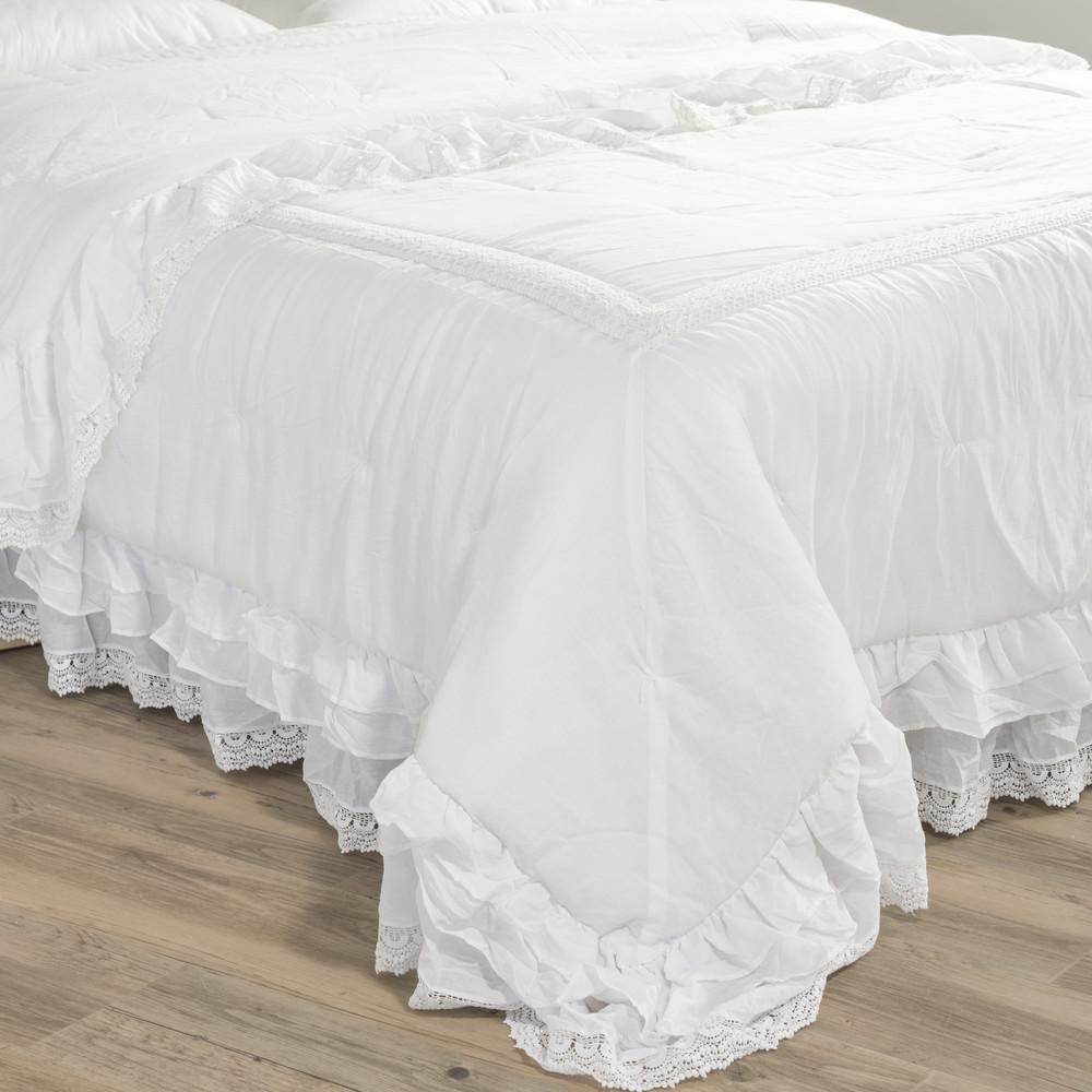 Boutis en coton blanc 240 x 260 cm cl mence maisons du monde - Couvre lit boutis maison du monde ...
